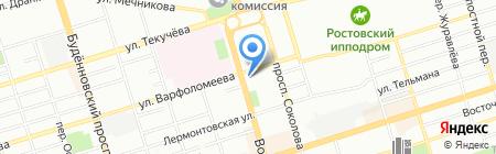 Удачное путешествие на карте Ростова-на-Дону