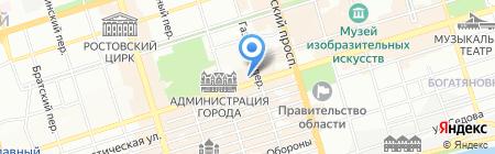 Эрна на карте Ростова-на-Дону