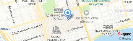 География на карте Ростова-на-Дону