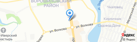 Авеню на карте Ростова-на-Дону