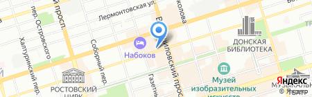 Молекула на карте Ростова-на-Дону