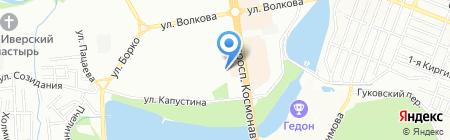 Желтый на карте Ростова-на-Дону