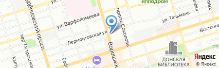 Полифон на карте Ростова-на-Дону