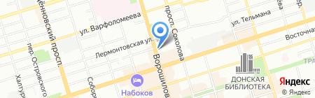 Совкомбанк на карте Ростова-на-Дону