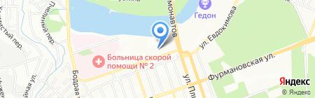 Северная Венеция на карте Ростова-на-Дону