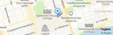 Средняя общеобразовательная школа №39 на карте Ростова-на-Дону