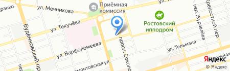 Невская бумага Юг на карте Ростова-на-Дону