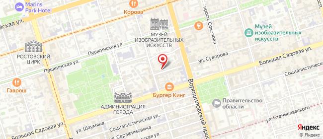 Карта расположения пункта доставки Ростов-на-Дону Суворова в городе Ростов-на-Дону