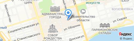 Универсал-тур на карте Ростова-на-Дону