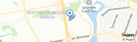 Бекон и Джон на карте Ростова-на-Дону