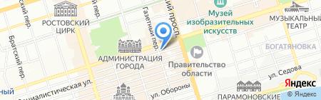 Юкон на карте Ростова-на-Дону