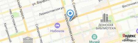Зодиак-2000 на карте Ростова-на-Дону