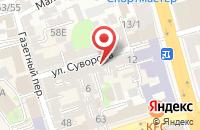 Схема проезда до компании Пресс-Центр в Ростове-На-Дону