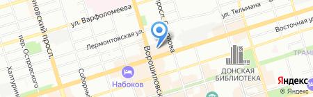 Банкомат Уральский банк реконструкции и развития на карте Ростова-на-Дону