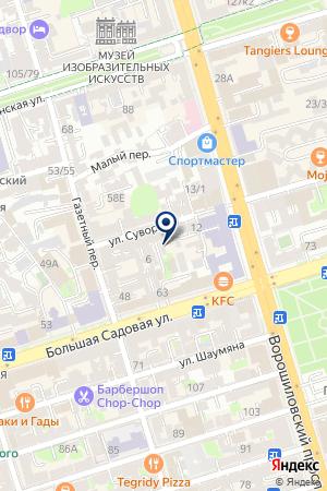 Полиграфыч-Дон на карте Ростова-на-Дону