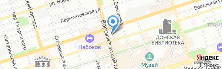 Окна Маркт на карте Ростова-на-Дону