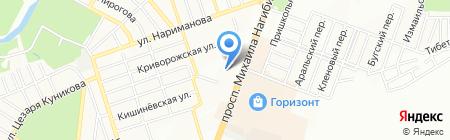 Рассвет на карте Ростова-на-Дону
