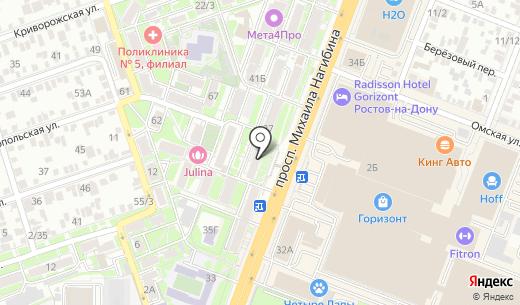 Эскулап. Схема проезда в Ростове-на-Дону