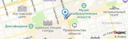 Centro на карте Ростова-на-Дону