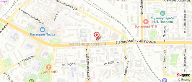 Карта расположения пункта доставки Рязань Первомайский в городе Рязань