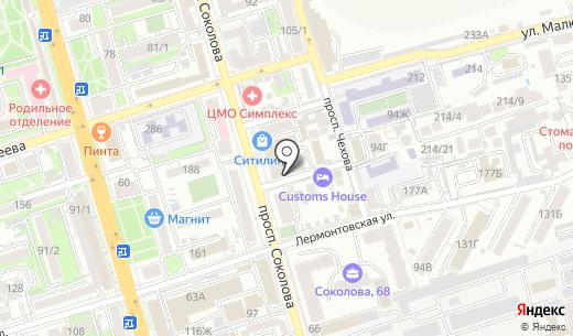 Ювелирная Мастерская №1. Схема проезда в Ростове-на-Дону