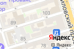 Схема проезда до компании Инджини PRO в Ростове-на-Дону