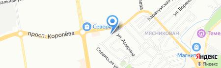 Квадро на карте Ростова-на-Дону