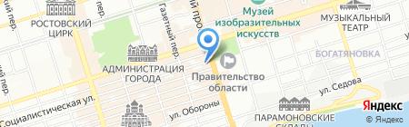 Путёвка в жизнь на карте Ростова-на-Дону