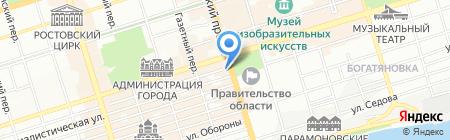 Графин на карте Ростова-на-Дону