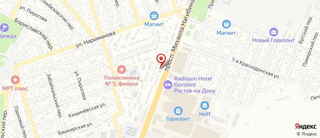 Карта расположения пункта доставки магазин НОУТБУКИ Центр МТ в городе Ростов-на-Дону
