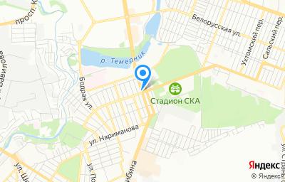 Местоположение на карте пункта техосмотра по адресу г Ростов-на-Дону, ул Фурмановская, д 109/56