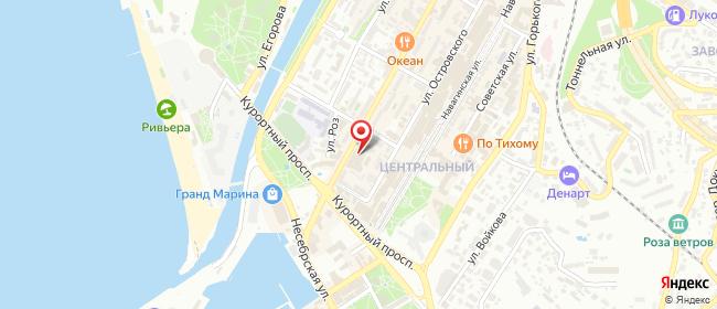 Карта расположения пункта доставки Ростелеком в городе Сочи