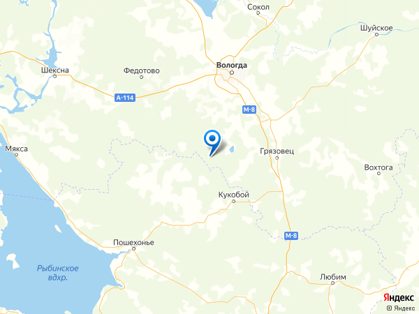 село Дмитриевское на карте