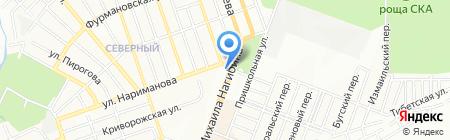 Жемчужина моря на карте Ростова-на-Дону