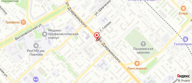 Карта расположения пункта доставки Балатон в городе Рязань