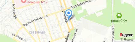 Фаэтон на карте Ростова-на-Дону