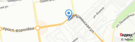 Амбар на карте Ростова-на-Дону
