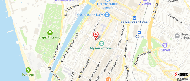 Карта расположения пункта доставки Lamoda/Pick-up в городе Сочи