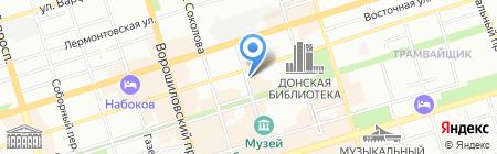 Гастроном на Чехова на карте Ростова-на-Дону