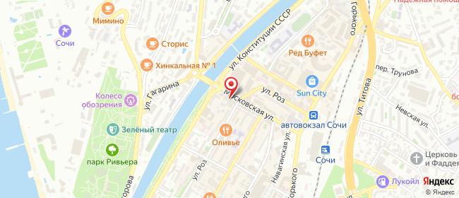 Карта расположения пункта доставки Халва в городе Сочи