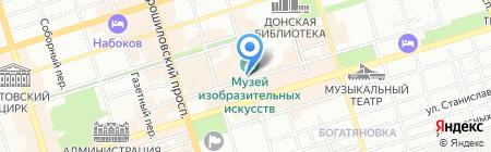 Хаббл-Баббл на карте Ростова-на-Дону