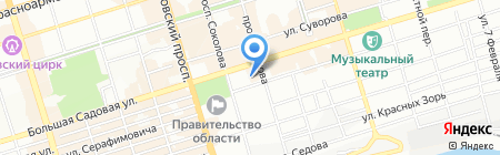 Банкомат ИТБ ОАО КБ ИНВЕСТРАСТБАНК на карте Ростова-на-Дону