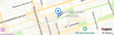 КБ РостФинанс на карте Ростова-на-Дону