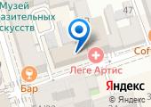 Пункт отбора на военную службу по контракту по Ростовской области на карте