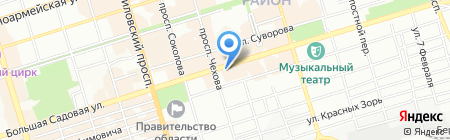 Банкомат АКБ Банк Москвы на карте Ростова-на-Дону