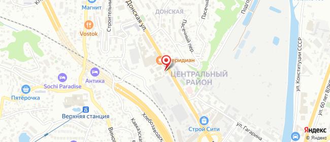 Карта расположения пункта доставки Сочи Донская в городе Сочи