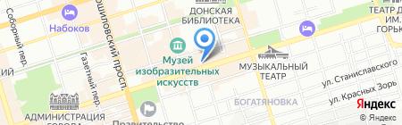 Рис на карте Ростова-на-Дону
