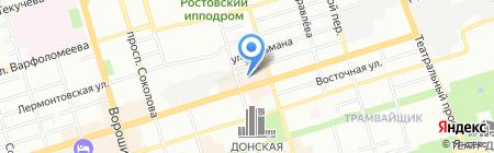 Банкомат Банк Возрождение на карте Ростова-на-Дону