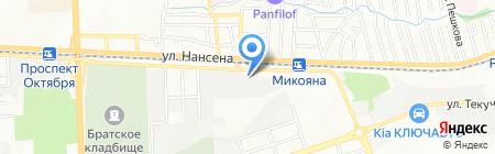 Южный Ветер на карте Ростова-на-Дону
