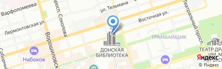 Детский сад №168 на карте Ростова-на-Дону